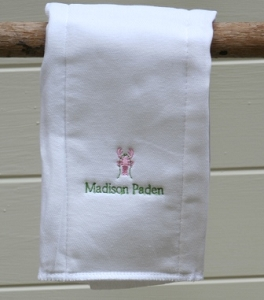 Custom Personalized Lobster Burp Cloth